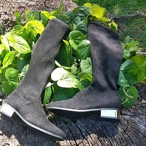 Bomboo Black knee high boots size 7 nwot